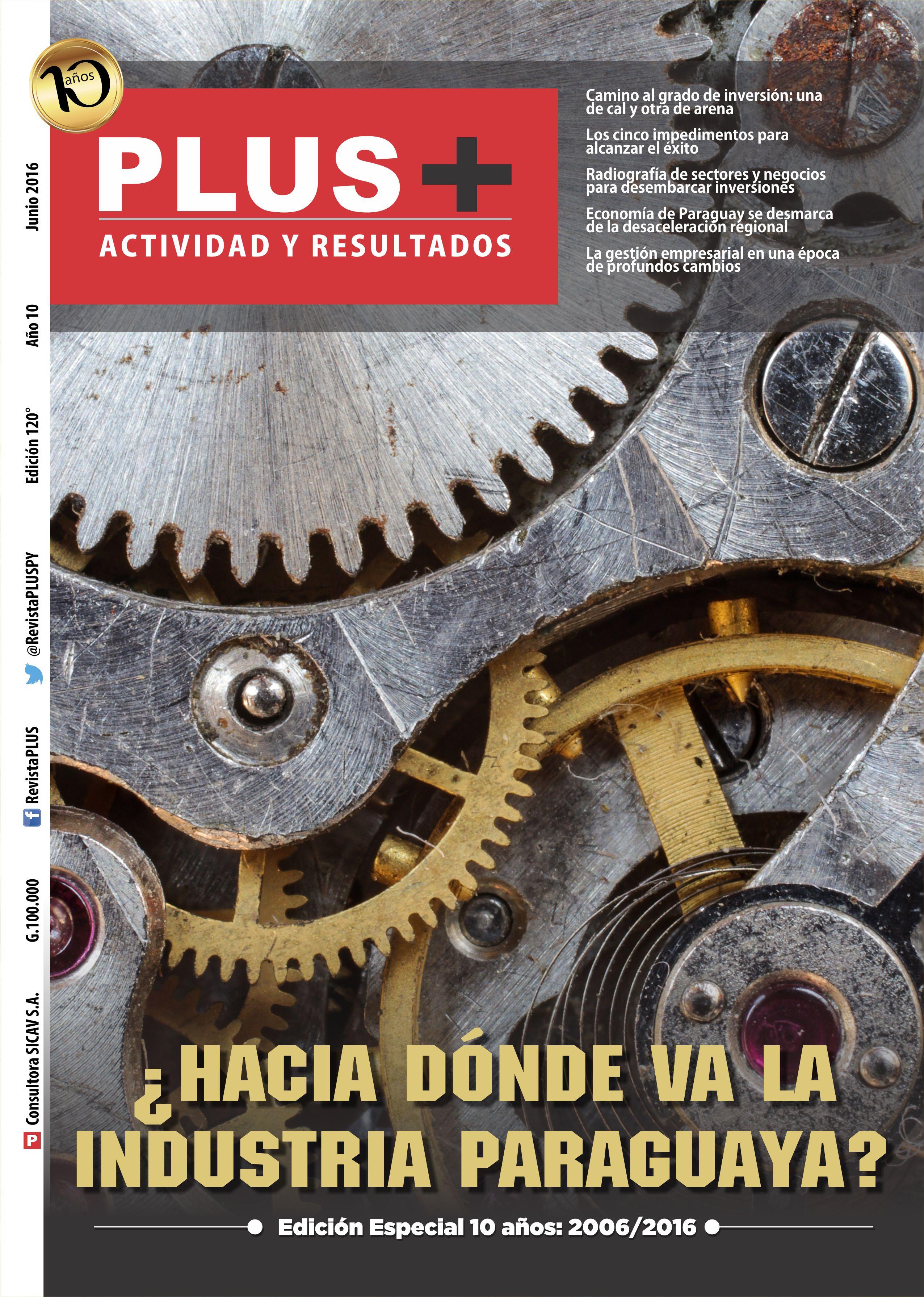 Tapa Revista Plus Junio 2016
